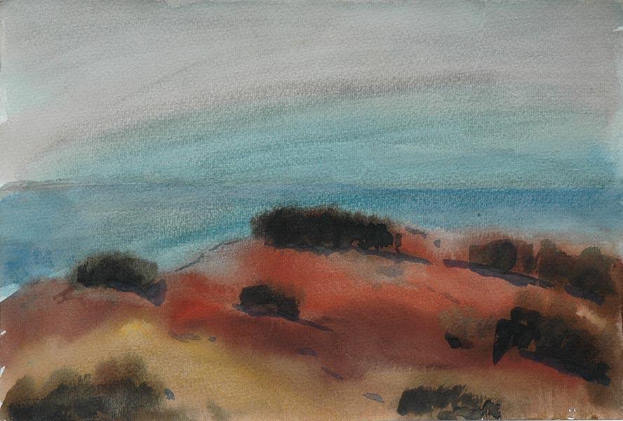 акварель из серии Кипр поле